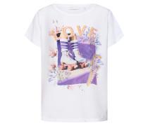Shirt 'Hey Girl' mischfarben / weiß