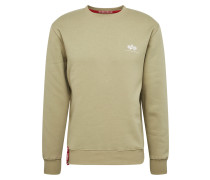 Sweater 'Small Logo' oliv