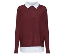 Pullover weinrot / weiß