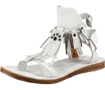 Klassische Sandalen weiß