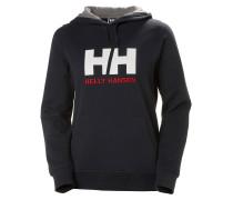 Hoodie navy / rot / weiß