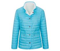 Jacke neonblau / weiß