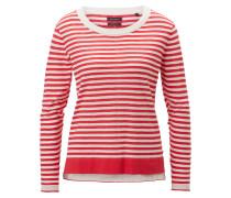 Strickpullover rot / weiß