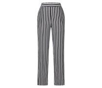 Hose 'nmmai Wide Pant' schwarz / weiß