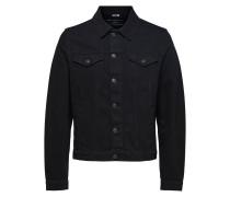 Basic Jeansjacke schwarz