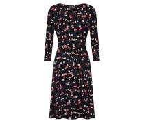 Kleid 'Cherry Pie' rot / schwarz / weiß