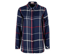 Bluse navy / graumeliert / rot