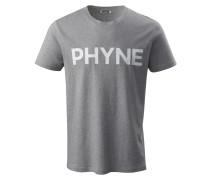 T-Shirt graumeliert / weiß
