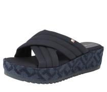 Plateau-Sandale nachtblau