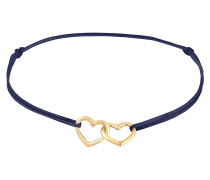 Armband 'Herz' blau / gold