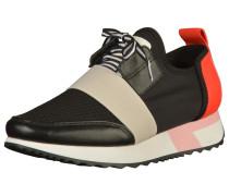 Sneaker beigemeliert / rot / schwarz