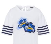 Blusenshirt navy / gelb / weiß