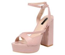 Sandalette 'raquel Square' nude / rosa