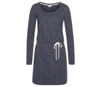 Kleid marine / rauchblau / rot / weiß