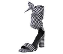 Sandale 'allison2' schwarz / weiß
