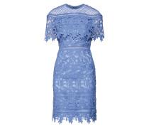 Minikleid mit Spitze hellblau