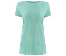 T-Shirt mint / silber