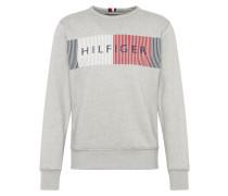 Sweatshirt grau / merlot / weiß
