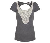 T-Shirt creme / dunkelgrau