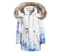 Mantel 'timea2' blau / weiß