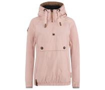 Jacket rostbraun / flieder / altrosa