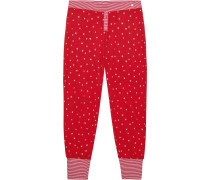 Schlafhose 'Elisa Cas' rot / weiß