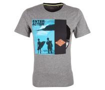 Jerseyshirt aqua / graumeliert