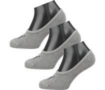 Füßlinge 'Footie' grau / schwarz