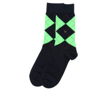 Socken 'Neon Queen' marine / neongrün