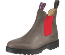 Chelsea Boots 'Jackaroo' greige / rot