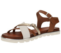 Sandalen weiß / braun