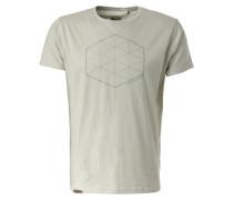 T-Shirt 'Kiwu' grau / weiß