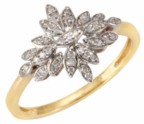 Diamantring gold / weiß