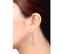 Ohrringe 'Notenschlüssel' silber