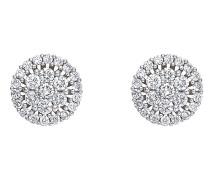Ohrstecker 'Diamonds' silber / weiß