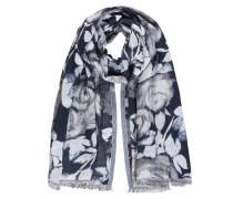 Schal dunkelblau / weiß