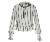 Bluse 'bruna' dunkelgrau / weiß