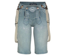 Jeansbermudas im 'Bavaria Look' blue denim