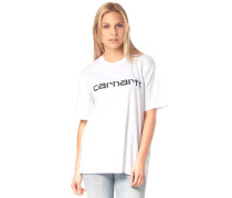 Script T-Shirt weiß