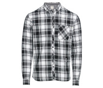 Hemd grau / schwarz / weiß