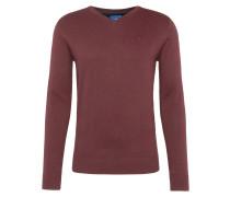Pullover 'basic v-neck sweater' beere