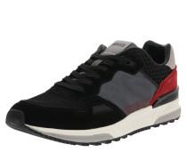 Sneaker 'Treck' grau / rot / schwarz