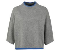 Pullover 'Poncho' blau / grau / schwarz
