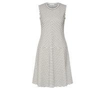 Kleid 'Wimo' grau / naturweiß