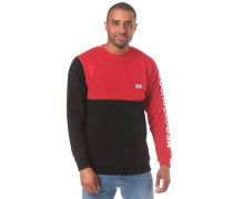 Sweatshirt 'Clewiston Crew' rot / schwarz