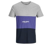 T-Shirt dunkellila / schwarz / weiß