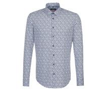 Business Hemd 'Slim' blau / weiß