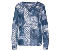 Bluse 'Ahula' dunkelblau / mischfarben