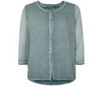 Bluse Button blau