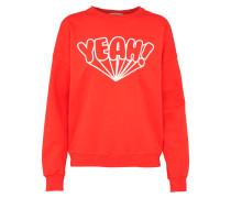 Sweatshirt mit Frontprint rot / weiß
